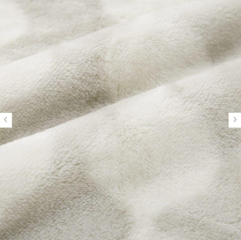 ヒートテック毛布のフィンレイソンの柄の詳細