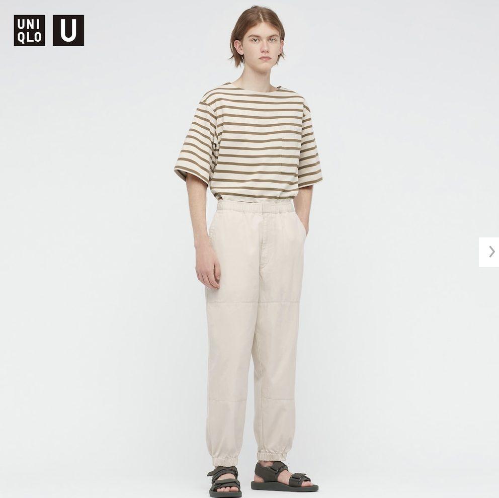 2021年春夏ユニクロUワイドフィットジョガーパンツのモデル1
