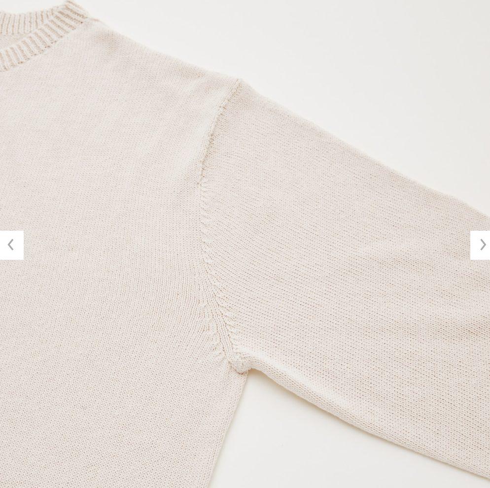 2021年春夏ユニクロU3Dクルーネックセーターの素材1