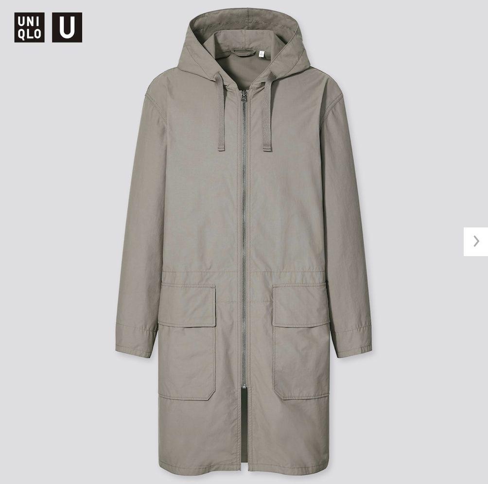 2021年春夏ユニクロUフーデッドコートのスタイル