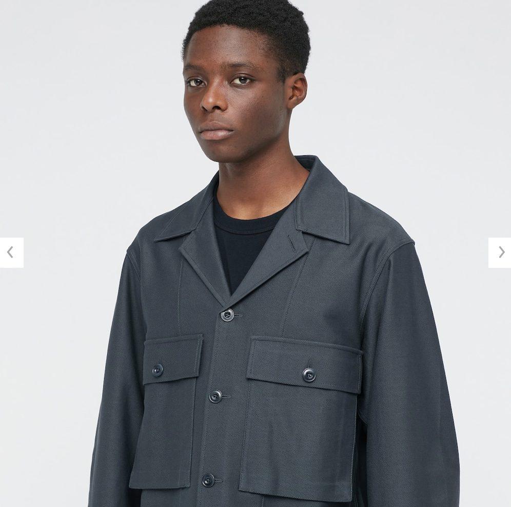 2021年春夏ユニクロUジャージーシャツジャケットのモデル4