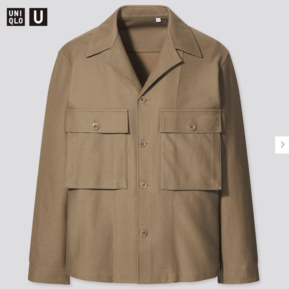 2021年春夏ユニクロUジャージーシャツジャケットのモデル5