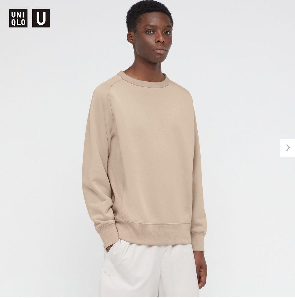 2021年春夏ユニクロUワイドフィットスウェットシャツのモデル1