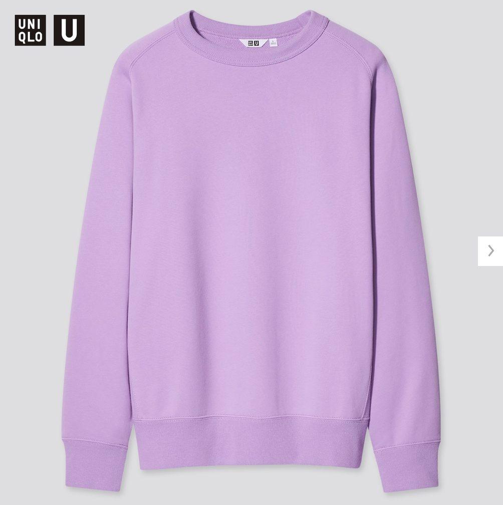 2021年春夏ユニクロUワイドフィットスウェットシャツのモデル3