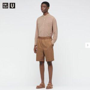 2021年春夏ユニクロUイージーワイドフィットショートパンツのモデル1