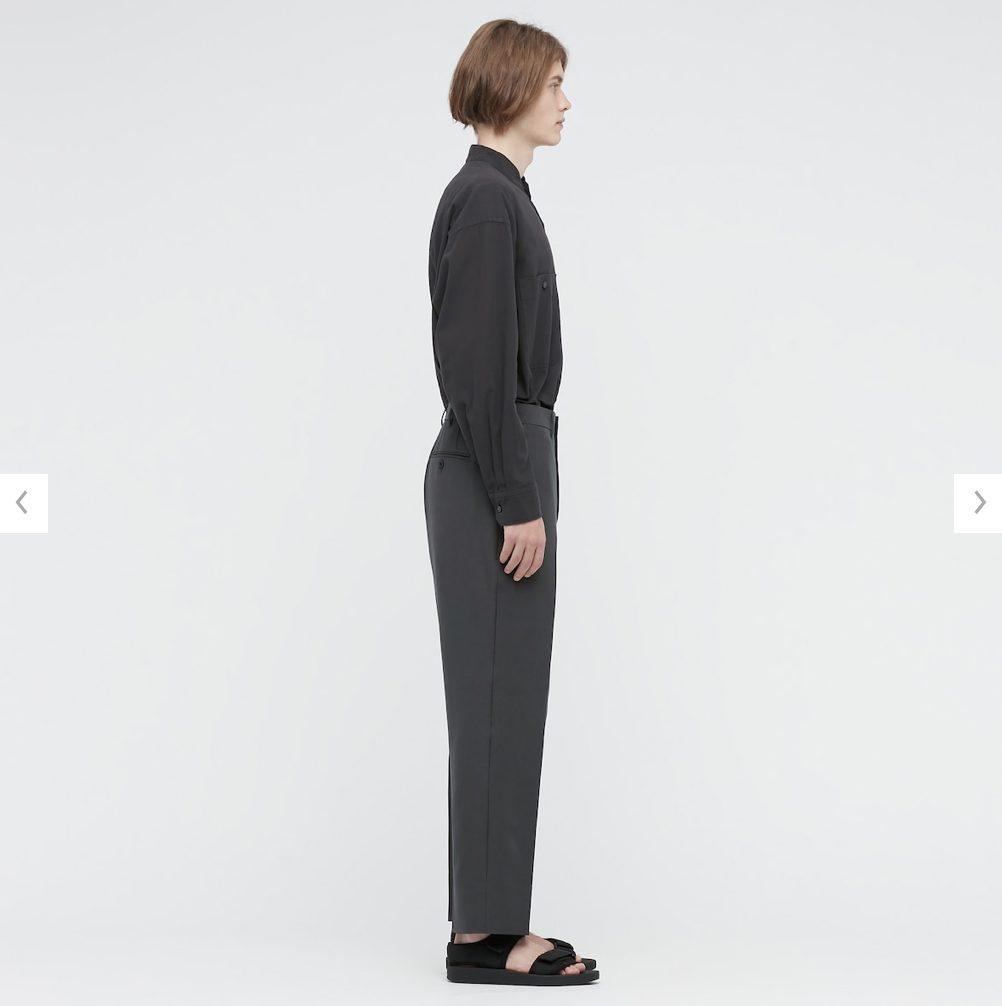 2021年春夏ユニクロUレギュラーフィットテーパードパンツのモデル5