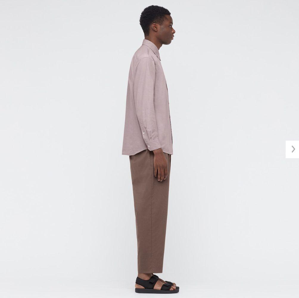 2021年春夏ユニクロUレギュラーフィットシャツのモデル2