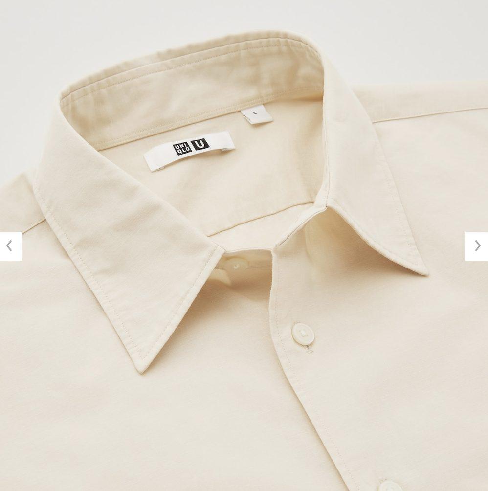 2021年春夏ユニクロUレギュラーフィットシャツのモデル3