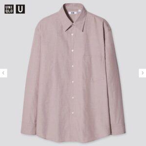 2021年春夏ユニクロUレギュラーフィットシャツのモデル4