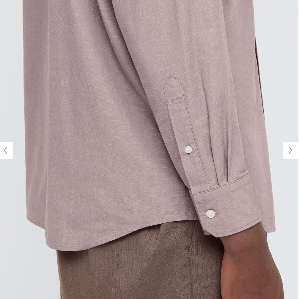 2021年春夏ユニクロUレギュラーフィットシャツのモデル5