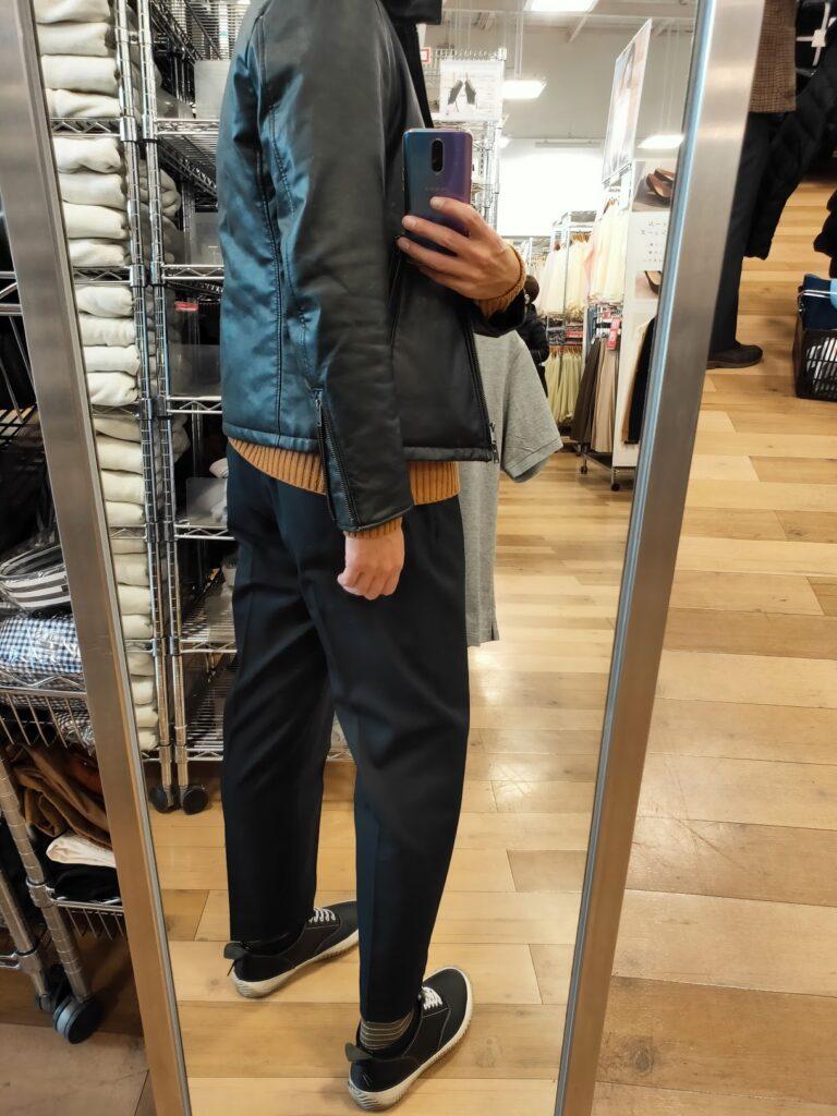 20210115本日のファッション後ろ