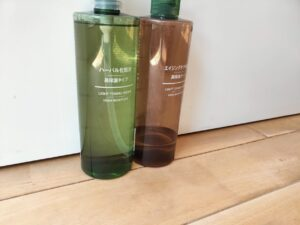 無印良品のハーバル化粧水とエイジングケアの画像