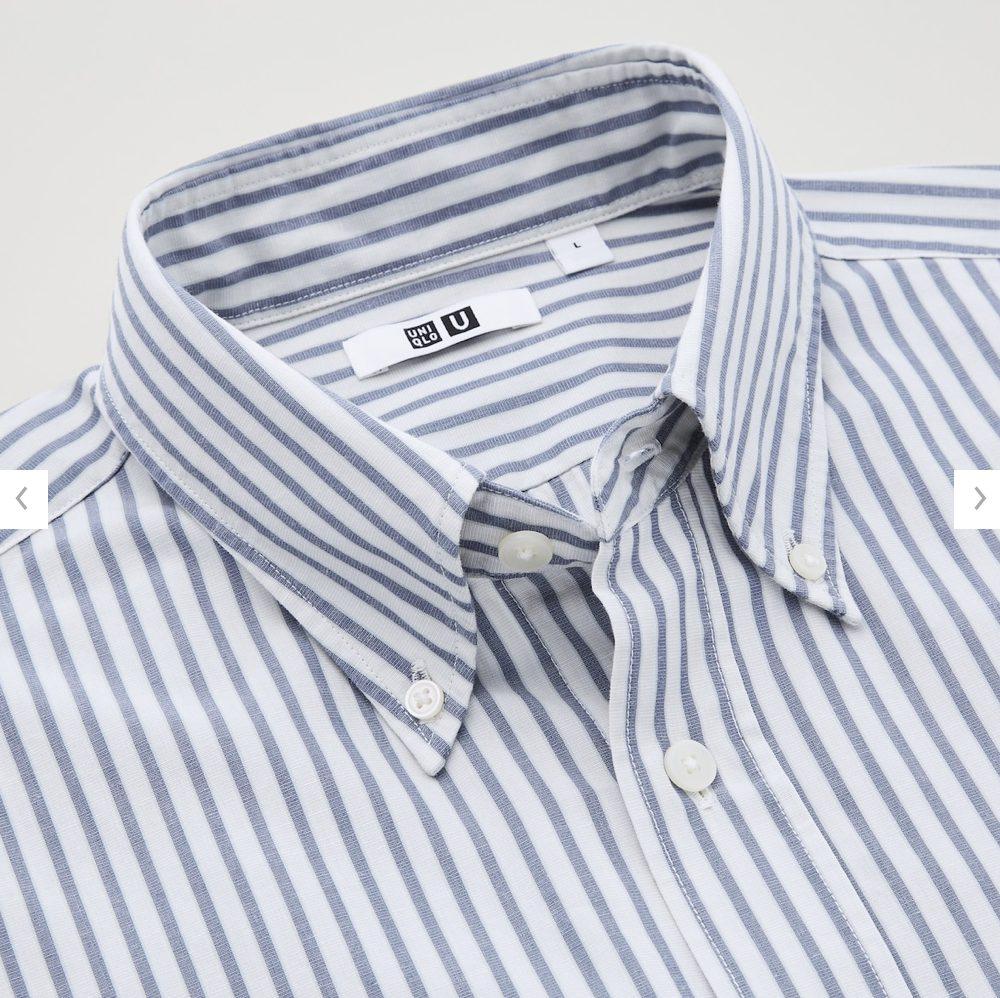 2021年春夏ユニクロUワイドフィットストライプシャツのモデル5