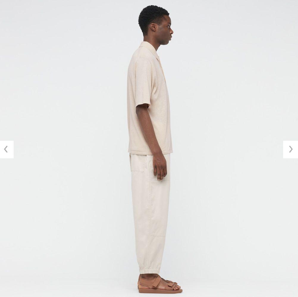 2021年春夏ユニクロUファインゲージポロシャツのモデル2
