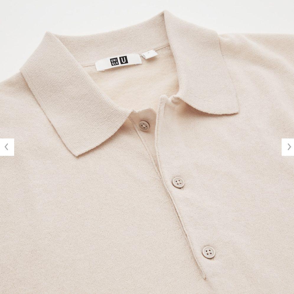 2021年春夏ユニクロUファインゲージポロシャツのモデル3