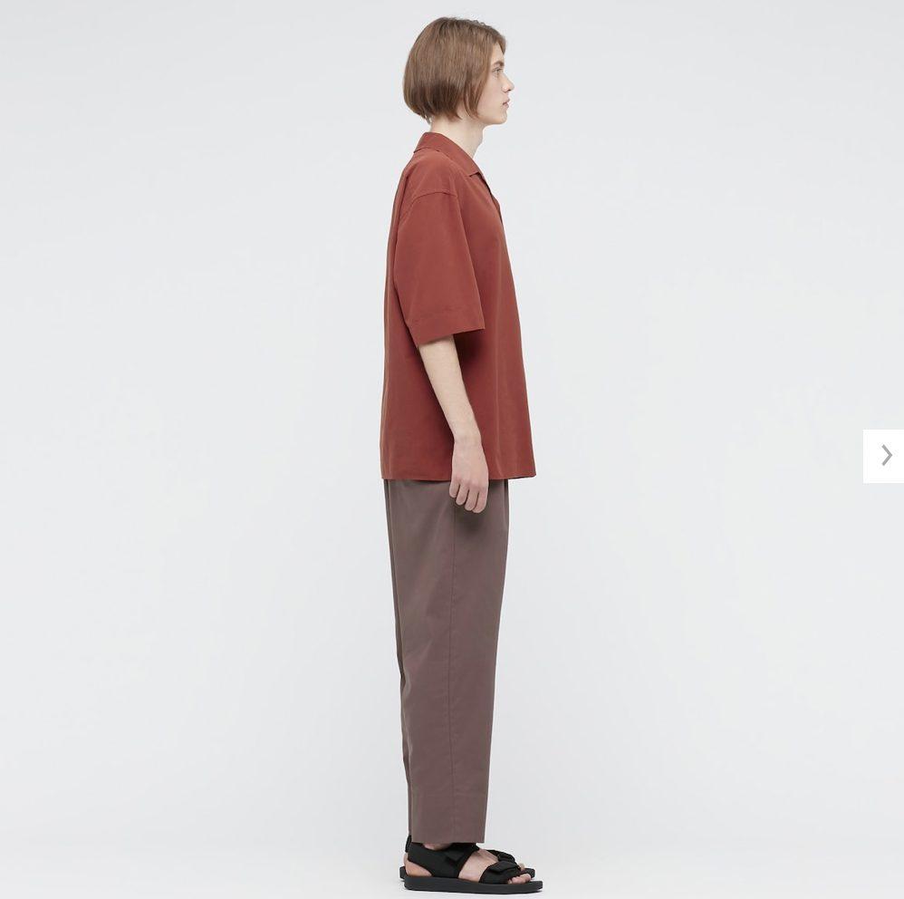2021年春夏ユニクロUオープンカラーシャツのモデル2