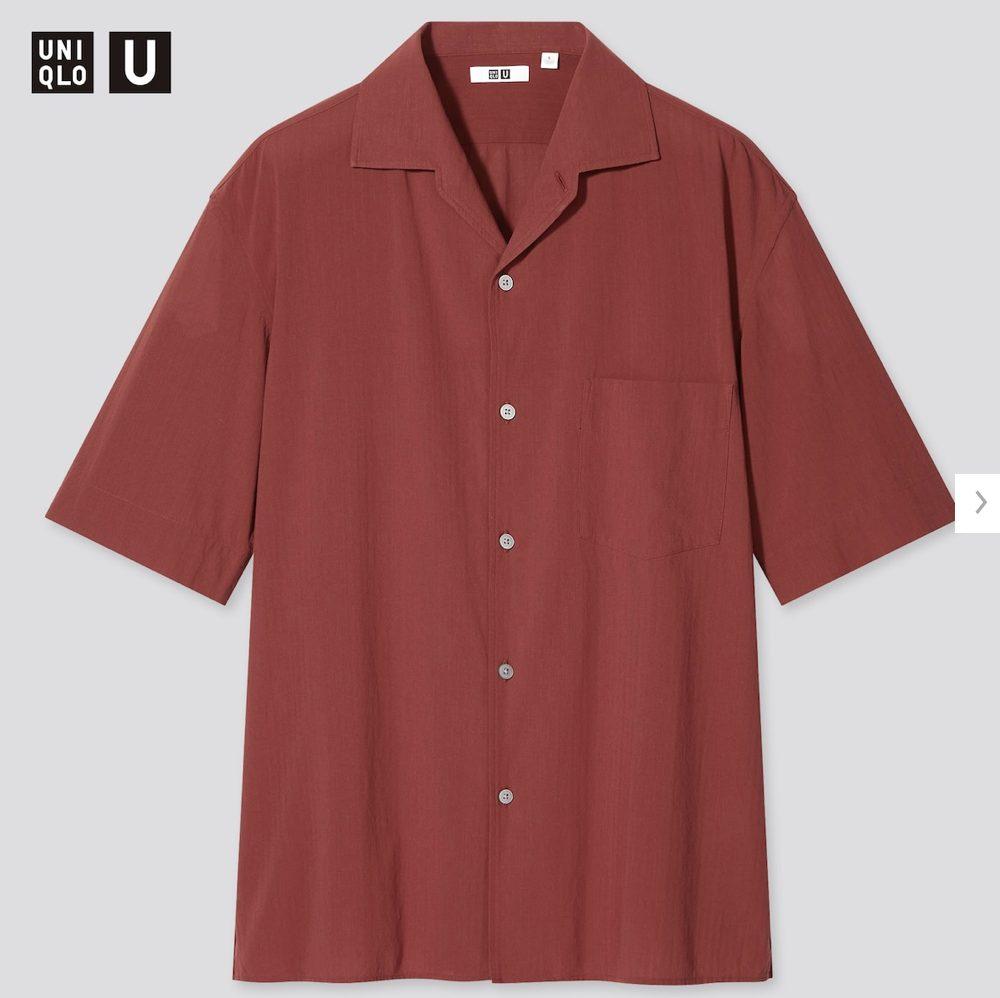 2021年春夏ユニクロUオープンカラーシャツのモデル3