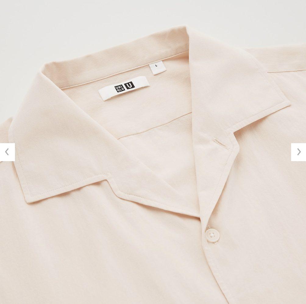 2021年春夏ユニクロUオープンカラーシャツのモデル4
