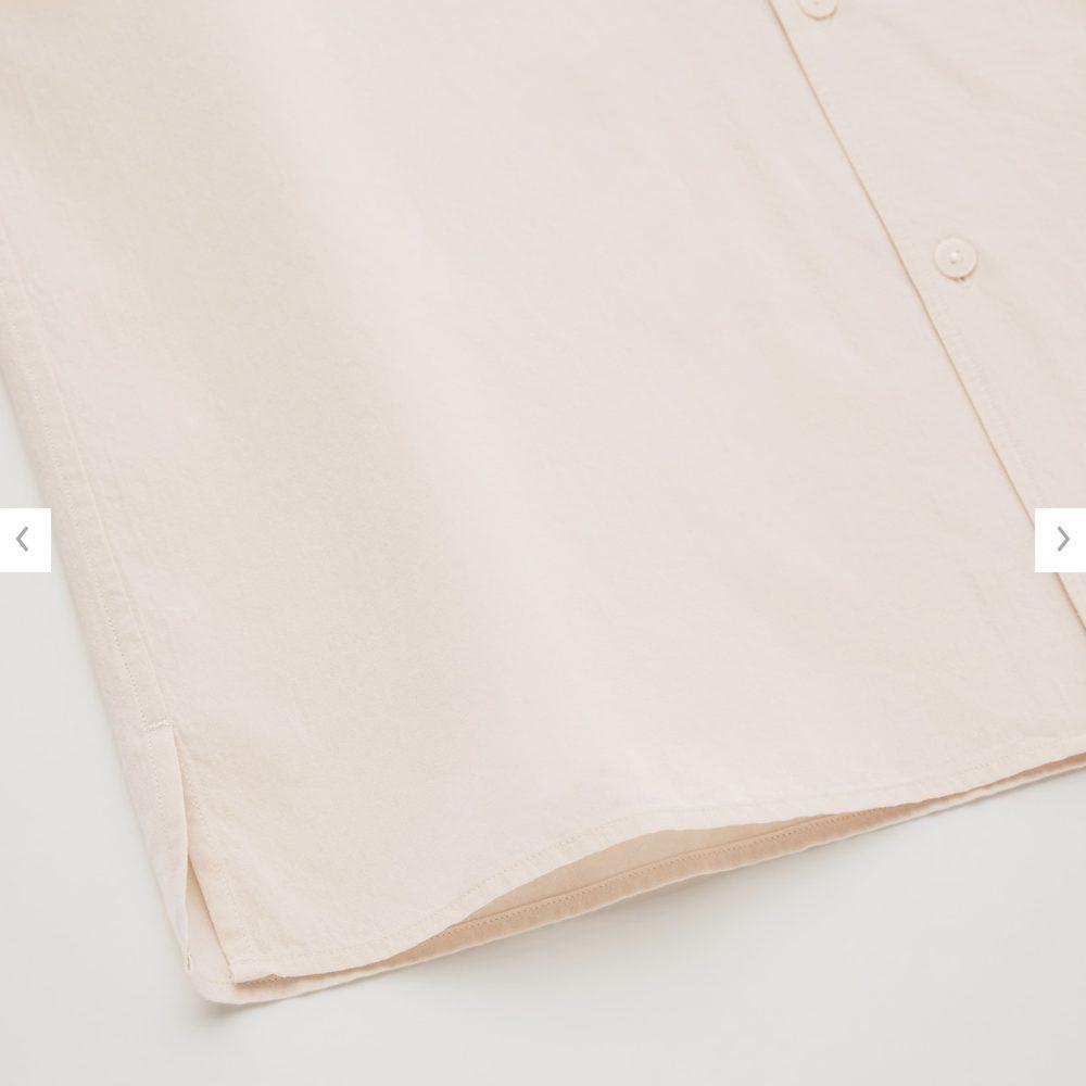 2021年春夏ユニクロUオープンカラーシャツのモデル5