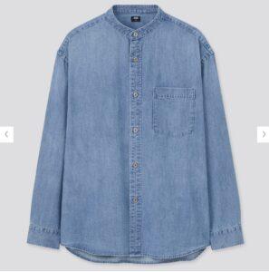 2021awデニムオーバーサイズスタンドカラーシャツのスタイル3