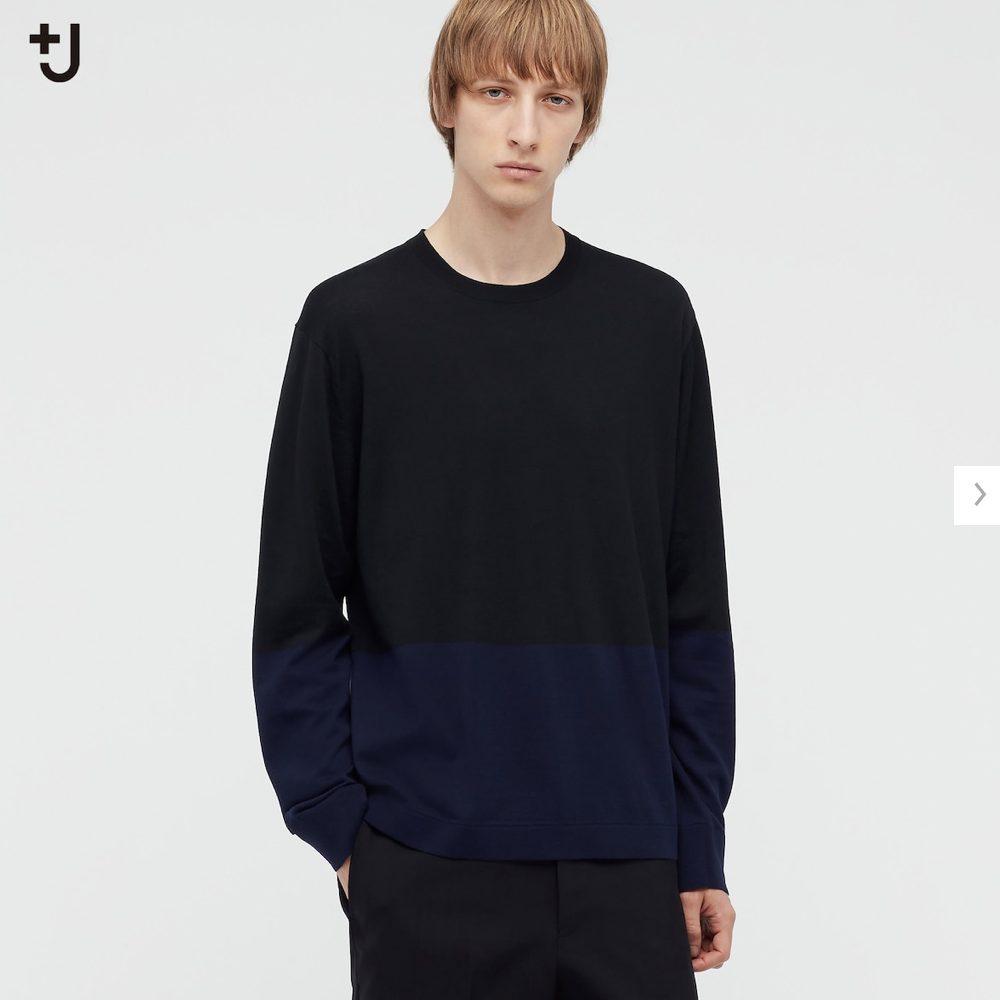 2021ssjシルクコットンクルーネックセーターのスタイル1