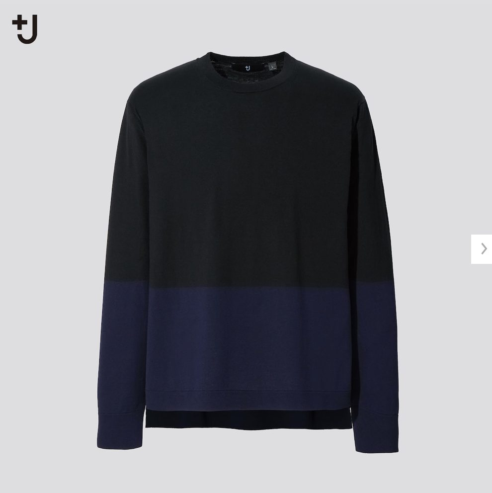 2021ssjシルクコットンクルーネックセーターのスタイル3