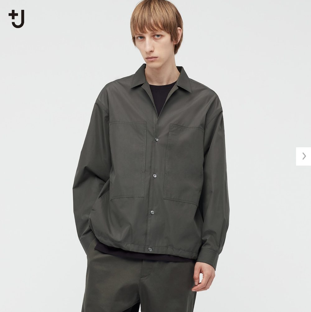 2021ssjスーピマコットンオーバーサイズシャツブルゾンのスタイル1