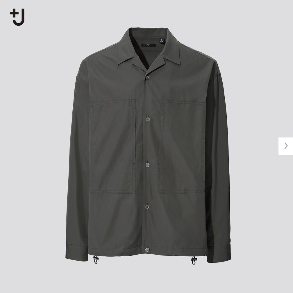 2021ssjスーピマコットンオーバーサイズシャツブルゾンのスタイル3