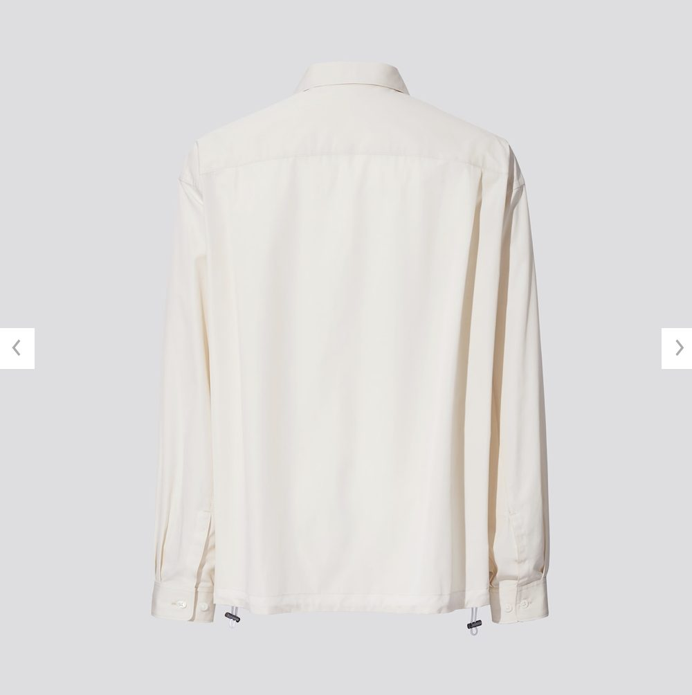 2021ssjスーピマコットンオーバーサイズシャツブルゾンのスタイル5