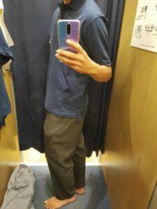 2021ssjリラックスフィットポロシャツのネイビーS横