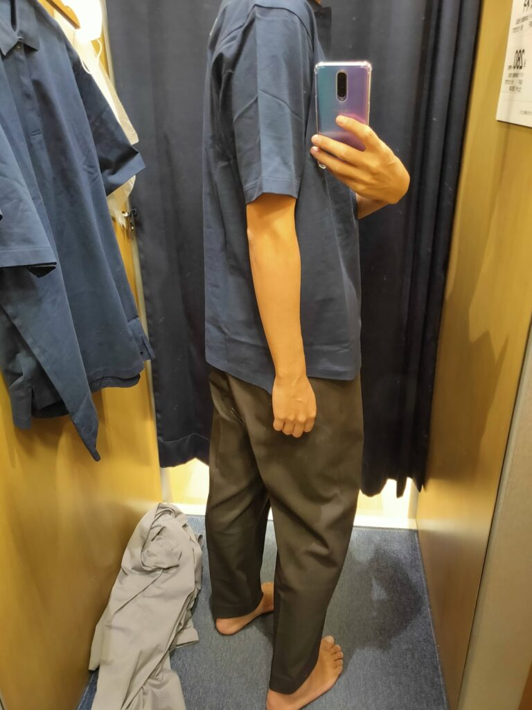 2021ssjリラックスフィットポロシャツのネイビーM後ろ