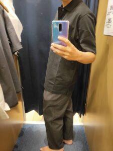 2021ssjリラックスフィットポロシャツのブラックL横