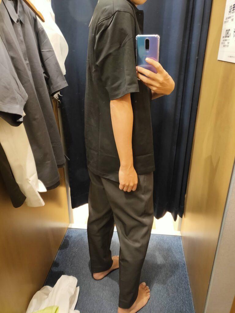 2021ssjリラックスフィットポロシャツのブラックL後ろ