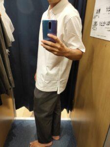 2021ssjリラックスフィットポロシャツのホワイトL横