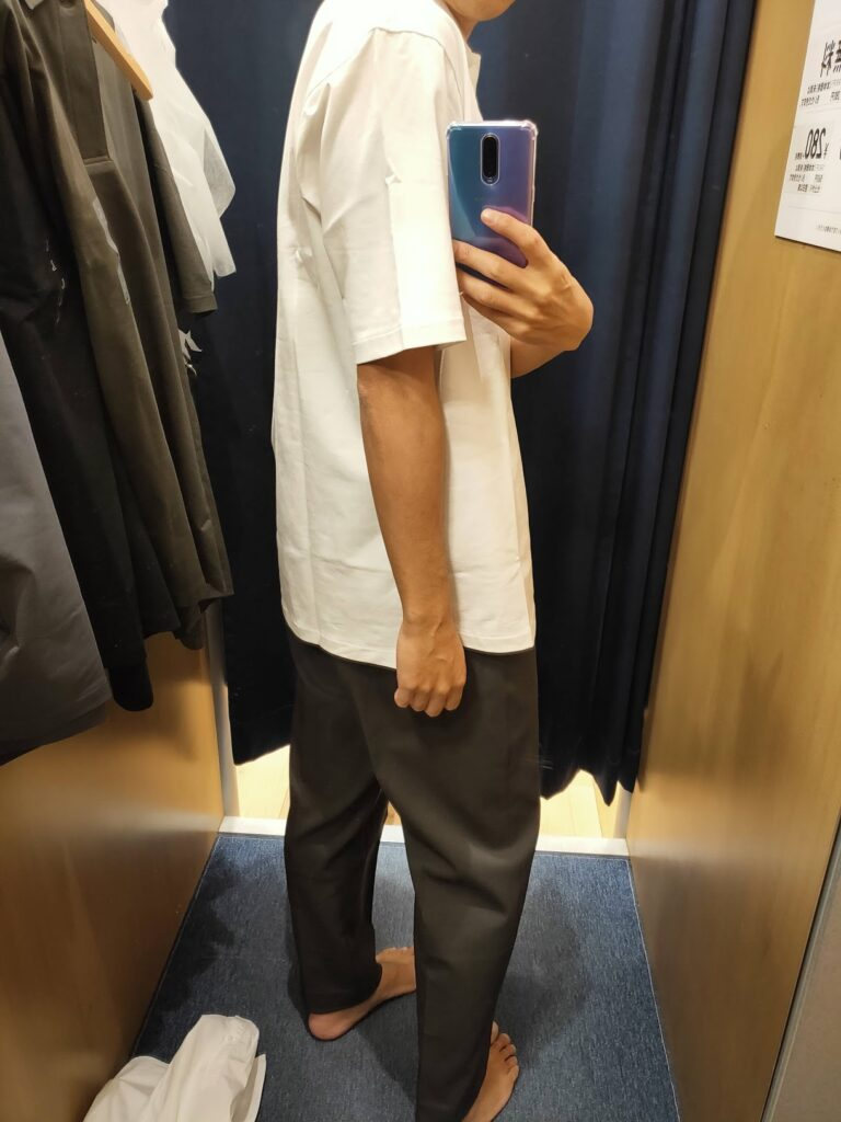 2021ssjリラックスフィットポロシャツのホワイトL後ろ
