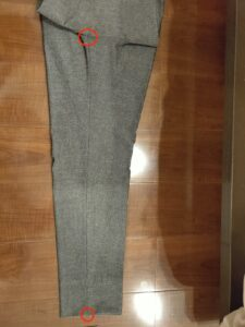 パンツの長さスラックス2