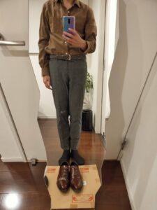 パンツの長さスラックス5