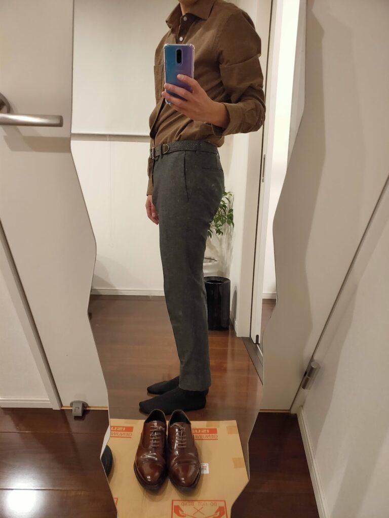 パンツの長さスラックス6