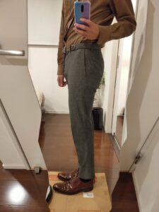 パンツの長さスラックス7