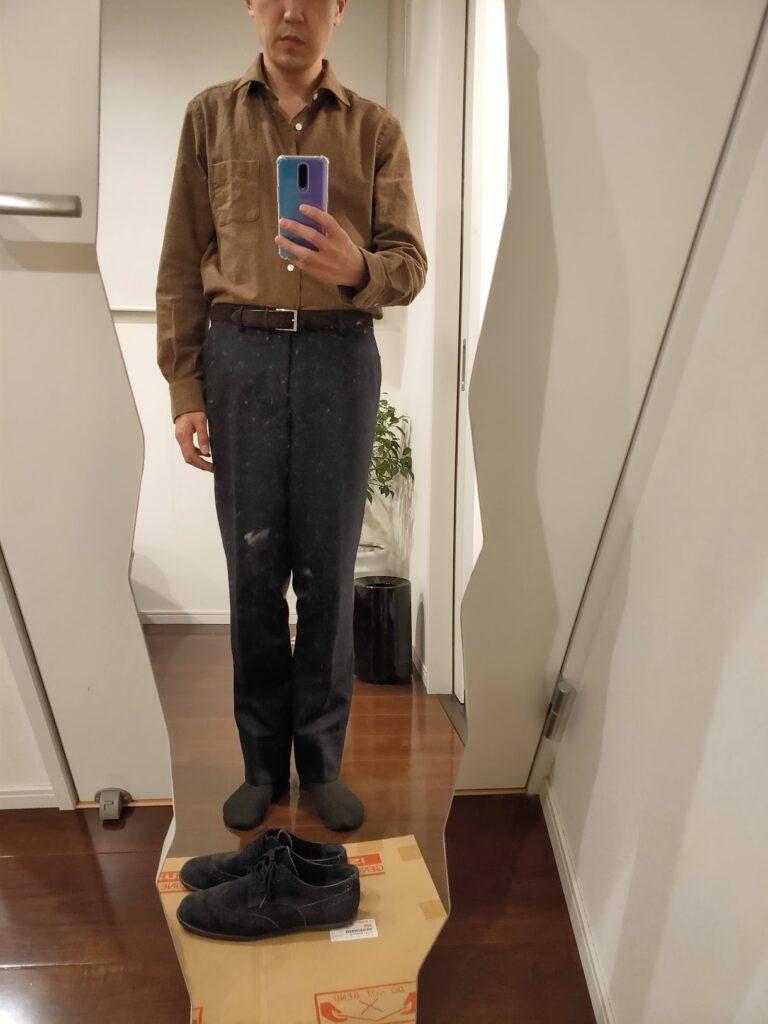 パンツの長さウールパンツ3