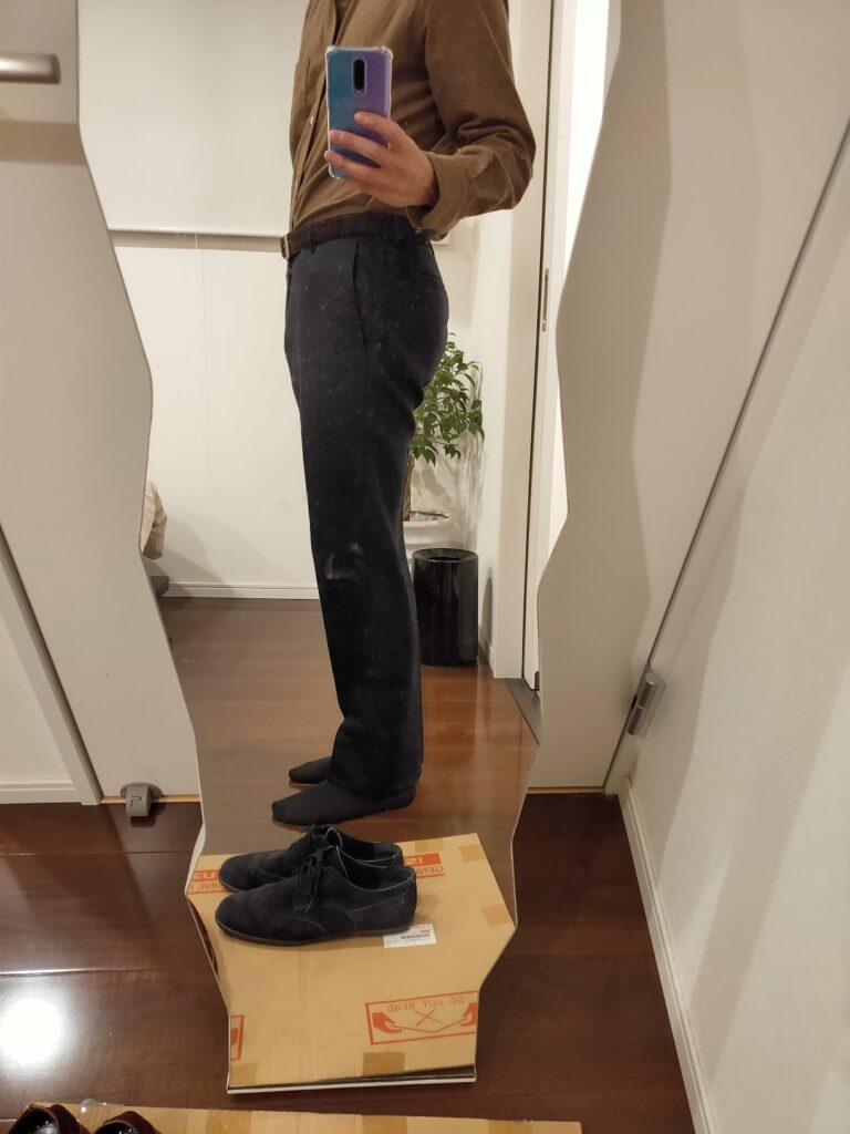 パンツの長さウールパンツ4