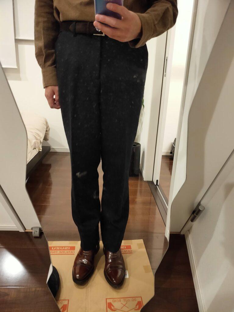 パンツの長さウールパンツ5