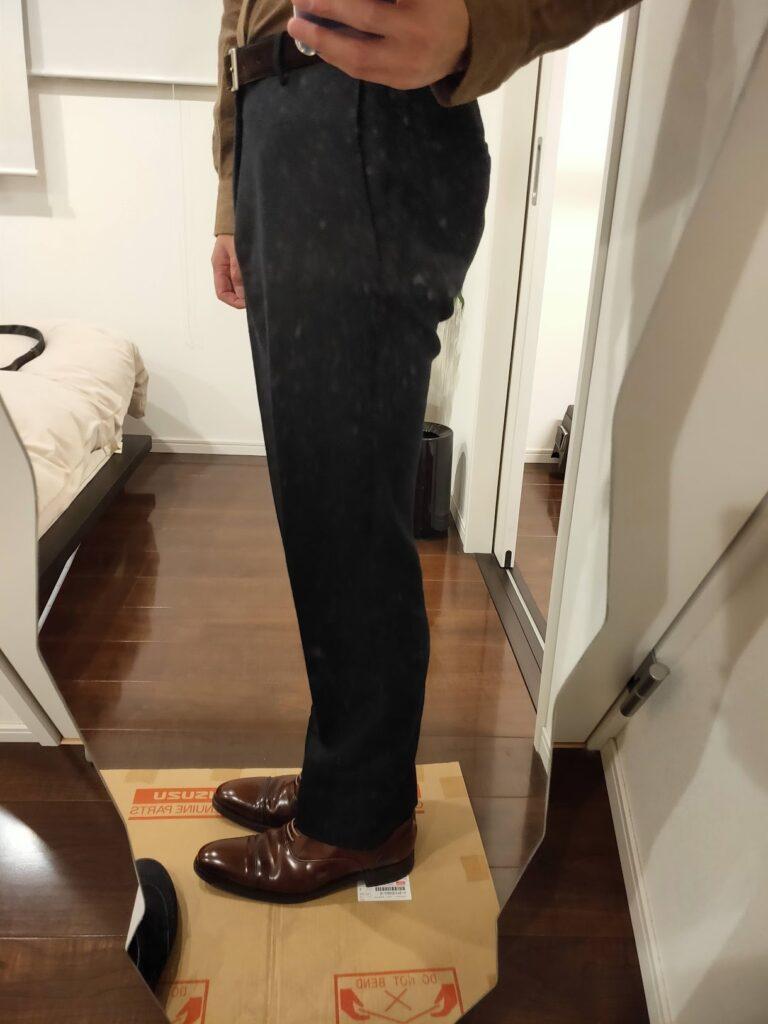 パンツの長さウールパンツ6