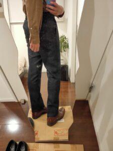 パンツの長さウールパンツ7