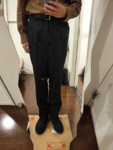 パンツの長さウールパンツ9
