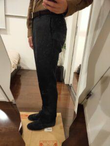 パンツの長さウールパンツ10