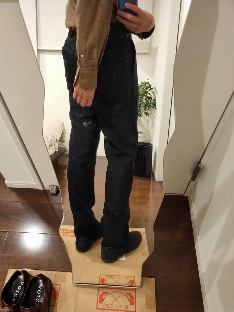 パンツの長さウールパンツ11