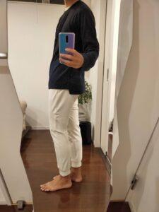 2021ssjシルクコットンクルーネックセーターのジョガーパンツ横