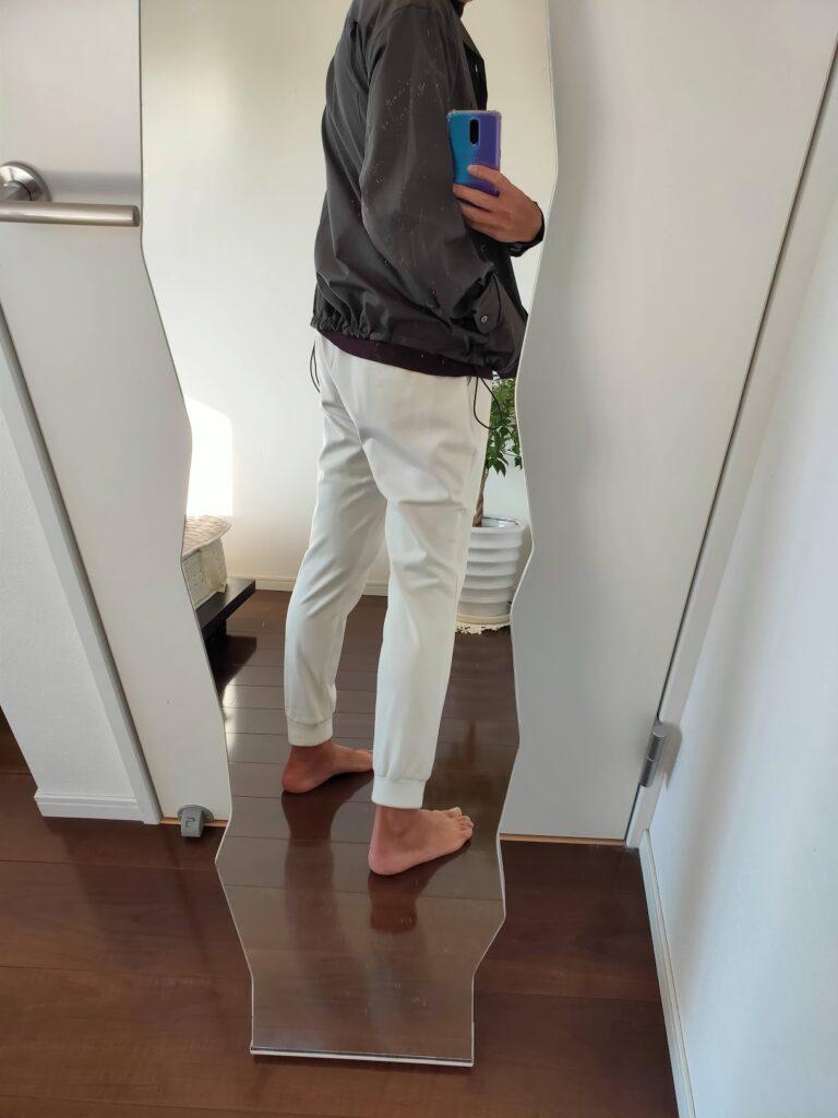 2021ssjスーピマコットンオーバーサイズシャツブルゾンのジョガーパンツコーデ3