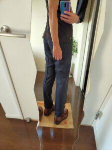 2021ssjウールスリムフィットパンツストライプの革靴3